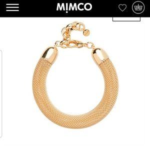 Mimco gold mesh metal bracelet